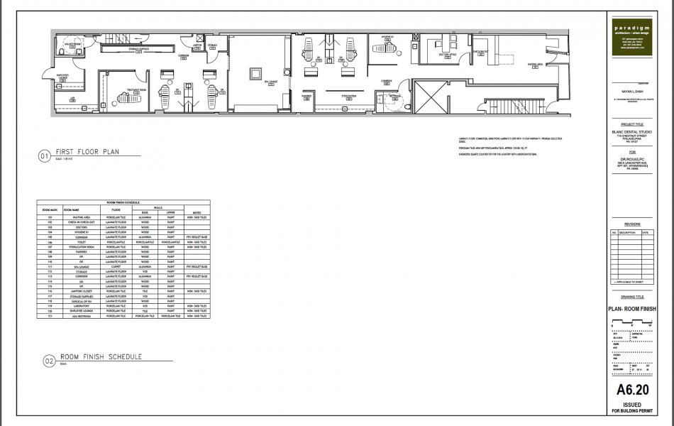 Blanc Dental Studio Floor Plan